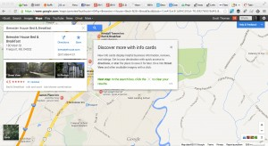 Info Cards on new Google Maps