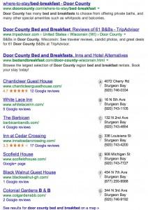 Desktop search results